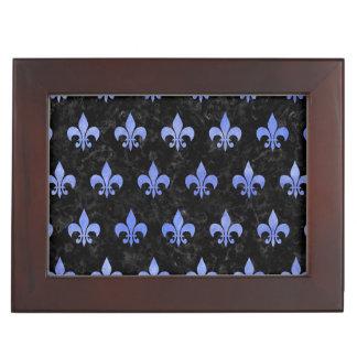 ROYAL1 BLACK MARBLE & BLUE WATERCOLOR (R) KEEPSAKE BOX