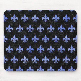 ROYAL1 BLACK MARBLE & BLUE WATERCOLOR (R) MOUSE PAD