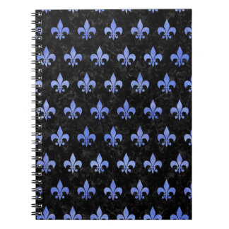 ROYAL1 BLACK MARBLE & BLUE WATERCOLOR (R) NOTEBOOKS