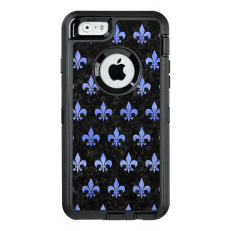 ROYAL1 BLACK MARBLE & BLUE WATERCOLOR (R) OtterBox DEFENDER iPhone CASE
