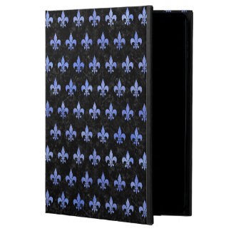 ROYAL1 BLACK MARBLE & BLUE WATERCOLOR (R) POWIS iPad AIR 2 CASE