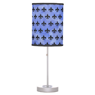 ROYAL1 BLACK MARBLE & BLUE WATERCOLOR TABLE LAMP
