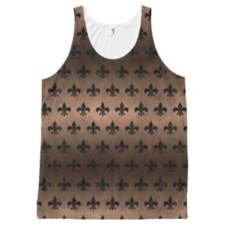 ROYAL1 BLACK MARBLE & BRONZE METAL All-Over-Print TANK TOP