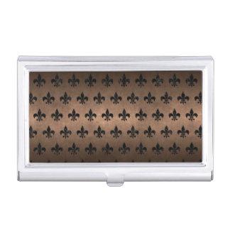 ROYAL1 BLACK MARBLE & BRONZE METAL BUSINESS CARD HOLDER