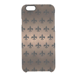 ROYAL1 BLACK MARBLE & BRONZE METAL CLEAR iPhone 6/6S CASE