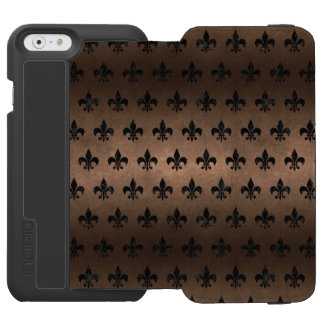 ROYAL1 BLACK MARBLE & BRONZE METAL INCIPIO WATSON™ iPhone 6 WALLET CASE