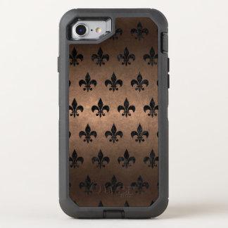 ROYAL1 BLACK MARBLE & BRONZE METAL OtterBox DEFENDER iPhone 8/7 CASE