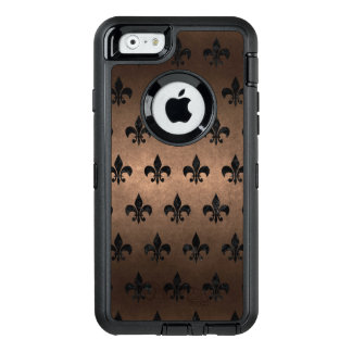 ROYAL1 BLACK MARBLE & BRONZE METAL OtterBox iPhone 6/6S CASE
