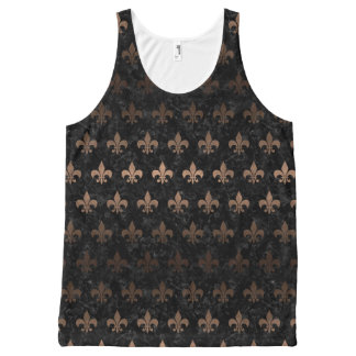 ROYAL1 BLACK MARBLE & BRONZE METAL (R) All-Over-Print TANK TOP