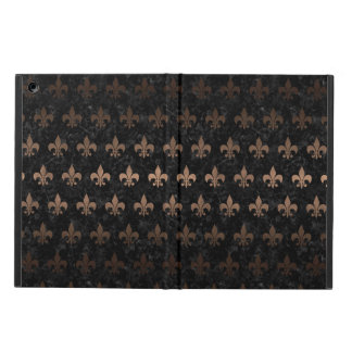 ROYAL1 BLACK MARBLE & BRONZE METAL (R) CASE FOR iPad AIR