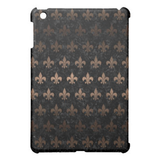 ROYAL1 BLACK MARBLE & BRONZE METAL (R) COVER FOR THE iPad MINI
