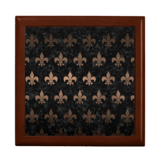 ROYAL1 BLACK MARBLE & BRONZE METAL (R) GIFT BOX