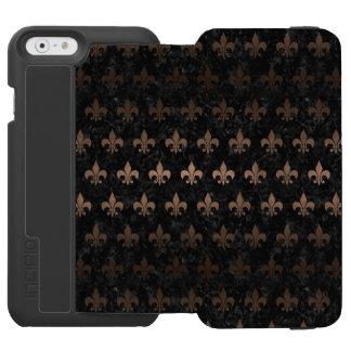 ROYAL1 BLACK MARBLE & BRONZE METAL (R) INCIPIO WATSON™ iPhone 6 WALLET CASE