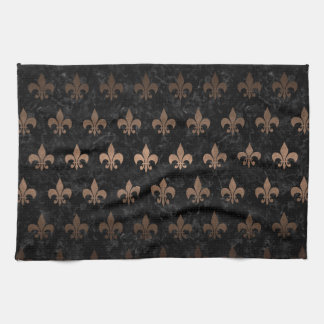 ROYAL1 BLACK MARBLE & BRONZE METAL (R) KITCHEN TOWEL