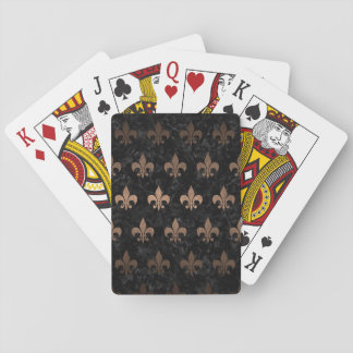 ROYAL1 BLACK MARBLE & BRONZE METAL (R) PLAYING CARDS