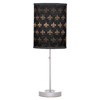 ROYAL1 BLACK MARBLE & BRONZE METAL (R) TABLE LAMP