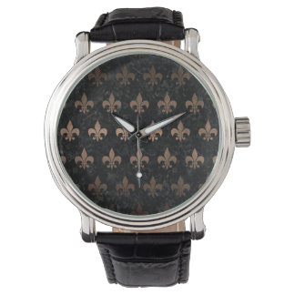 ROYAL1 BLACK MARBLE & BRONZE METAL (R) WATCH