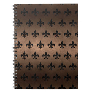ROYAL1 BLACK MARBLE & BRONZE METAL SPIRAL NOTEBOOK