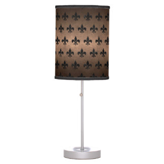 ROYAL1 BLACK MARBLE & BRONZE METAL TABLE LAMP