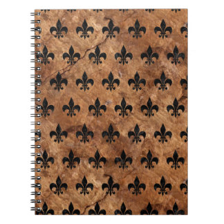 ROYAL1 BLACK MARBLE & BROWN STONE NOTEBOOKS