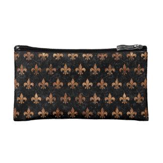 ROYAL1 BLACK MARBLE & BROWN STONE (R) COSMETIC BAG