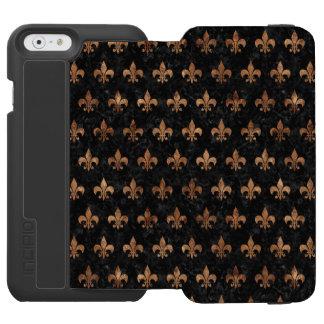 ROYAL1 BLACK MARBLE & BROWN STONE (R) INCIPIO WATSON™ iPhone 6 WALLET CASE