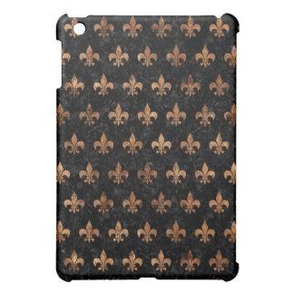 ROYAL1 BLACK MARBLE & BROWN STONE (R) iPad MINI CASE