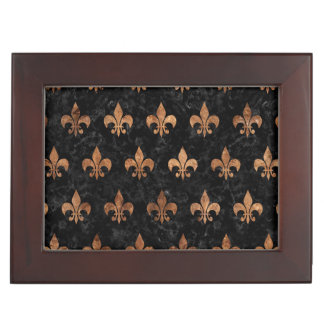 ROYAL1 BLACK MARBLE & BROWN STONE (R) KEEPSAKE BOX