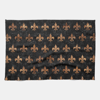ROYAL1 BLACK MARBLE & BROWN STONE (R) KITCHEN TOWEL