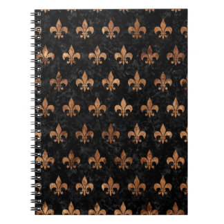 ROYAL1 BLACK MARBLE & BROWN STONE (R) NOTEBOOK