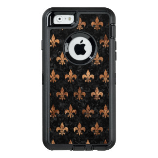 ROYAL1 BLACK MARBLE & BROWN STONE (R) OtterBox DEFENDER iPhone CASE
