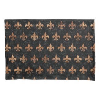 ROYAL1 BLACK MARBLE & BROWN STONE (R) PILLOWCASE