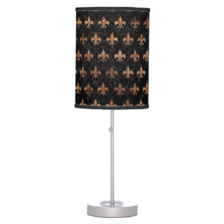 ROYAL1 BLACK MARBLE & BROWN STONE (R) TABLE LAMP