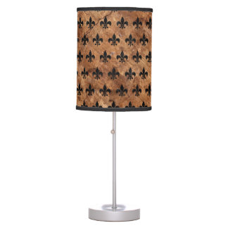 ROYAL1 BLACK MARBLE & BROWN STONE TABLE LAMP