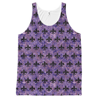 ROYAL1 BLACK MARBLE & PURPLE MARBLE All-Over-Print TANK TOP