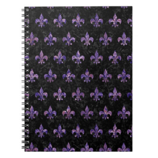 ROYAL1 BLACK MARBLE & PURPLE MARBLE (R) NOTEBOOK