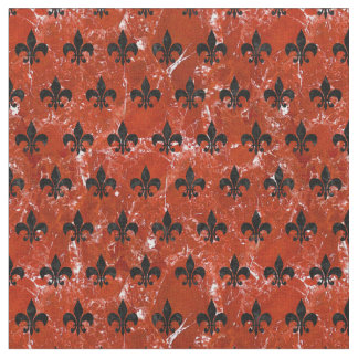 ROYAL1 BLACK MARBLE & RED MARBLE FABRIC