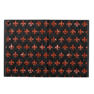 ROYAL1 BLACK MARBLE & RED MARBLE (R) CASE FOR iPad AIR