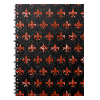 ROYAL1 BLACK MARBLE & RED MARBLE (R) NOTEBOOKS