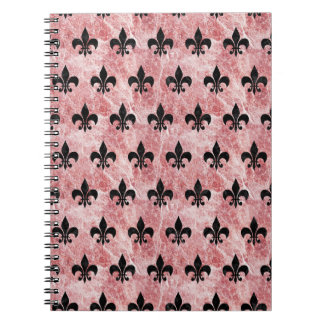 ROYAL1 BLACK MARBLE & RED & WHITE MARBLE NOTEBOOKS