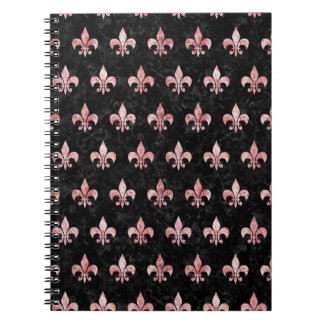 ROYAL1 BLACK MARBLE & RED & WHITE MARBLE (R) SPIRAL NOTEBOOK