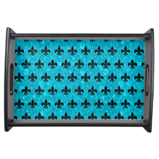 ROYAL1 BLACK MARBLE & TURQUOISE MARBLE SERVING TRAY