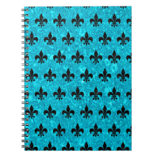 ROYAL1 BLACK MARBLE & TURQUOISE MARBLE SPIRAL NOTEBOOK