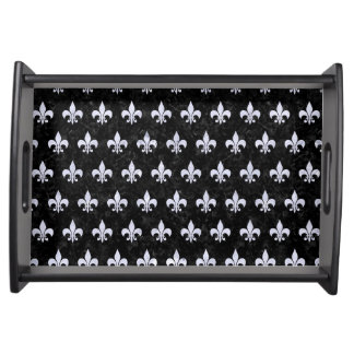 ROYAL1 BLACK MARBLE & WHITE MARBLE (R) SERVING TRAY