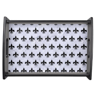 ROYAL1 BLACK MARBLE & WHITE MARBLE SERVING TRAY