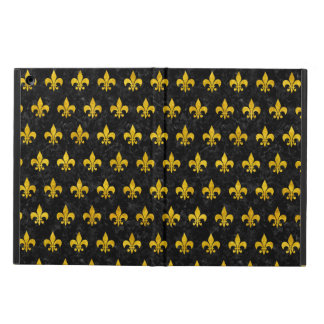 ROYAL1 BLACK MARBLE & YELLOW MARBLE (R) COVER FOR iPad AIR