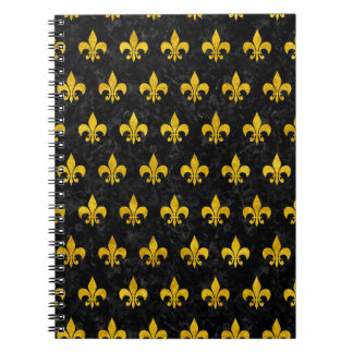 ROYAL1 BLACK MARBLE & YELLOW MARBLE (R) NOTEBOOKS