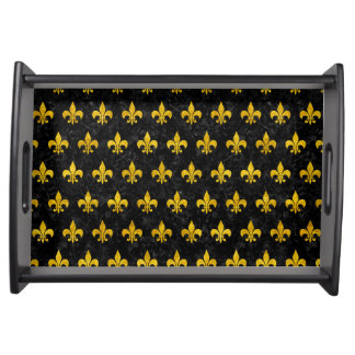 ROYAL1 BLACK MARBLE & YELLOW MARBLE (R) SERVING TRAY