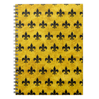 ROYAL1 BLACK MARBLE & YELLOW MARBLE SPIRAL NOTEBOOK