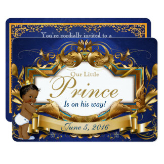 Royal African Prince Fancy Baby Shower Invitation